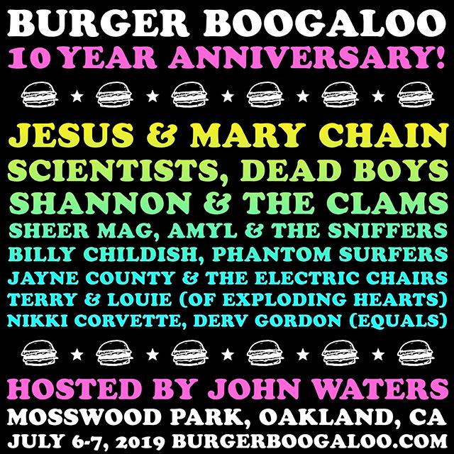 Burger Boogaloo Lineup