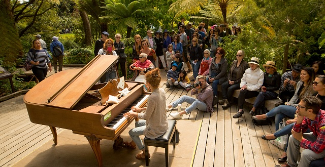 Flower Piano Celebrates 5th Anniversary with 12 Days of Music in the Park